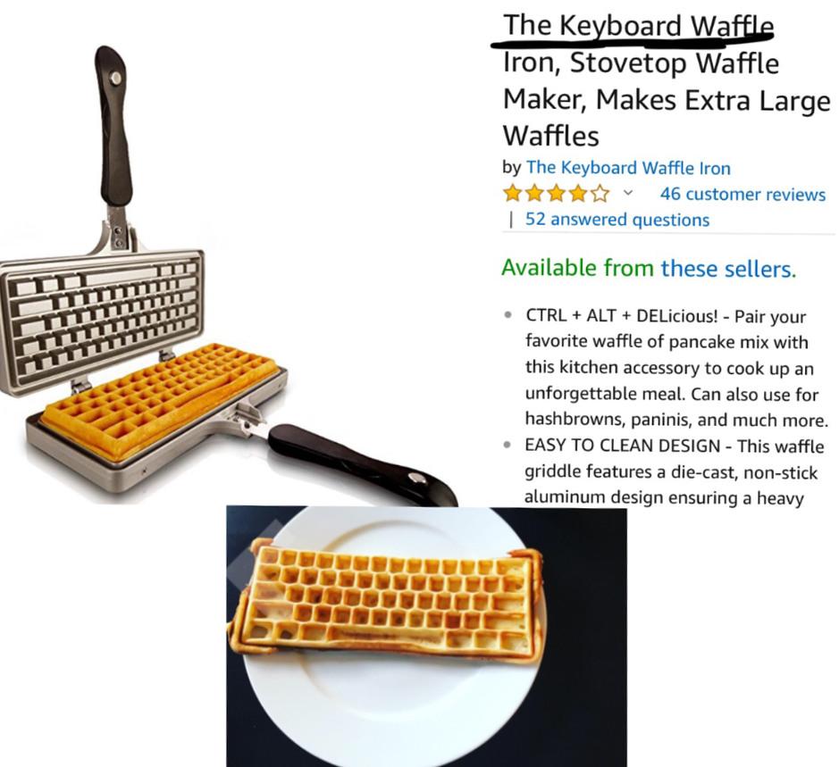 Keyboard Waffle - meme