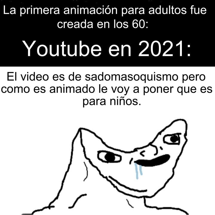 Un meme mío salió en la comunidad de YouTube de alguien