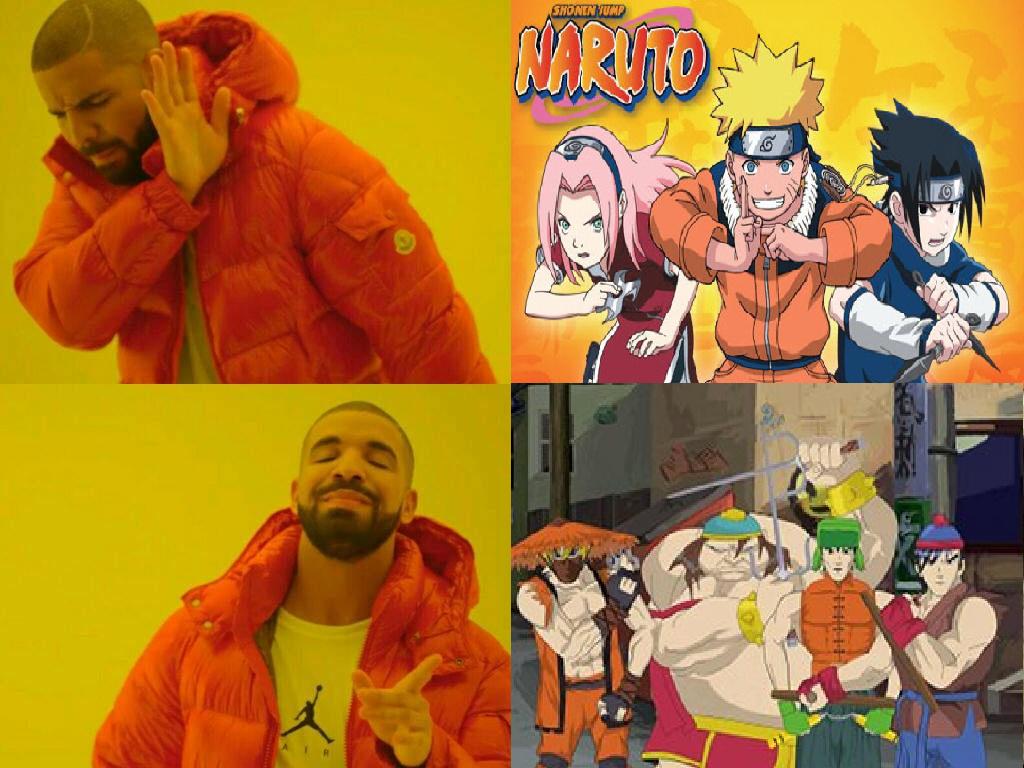 South Park melhor anime - meme