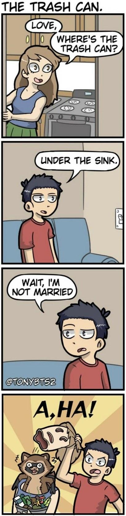 he's not married - meme
