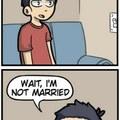 he's not married