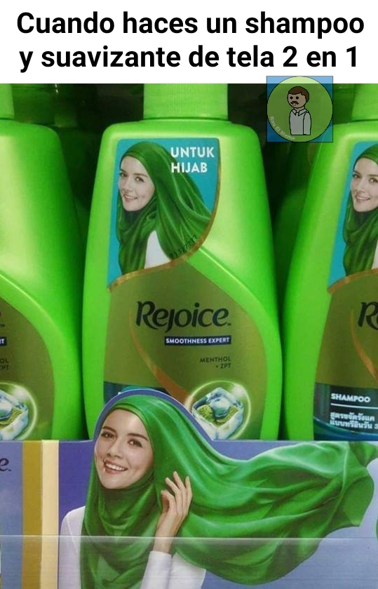 Reto de comer shampoo - meme