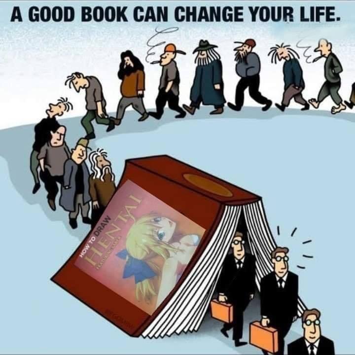 read the books - meme