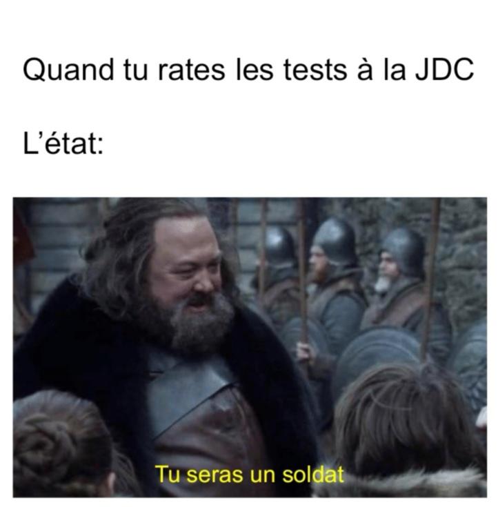 JDC=journée de défense et du citoyen - meme