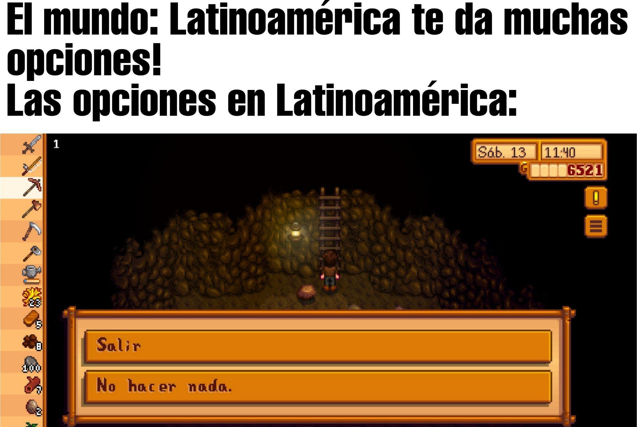 si algún día te sientes pelotudo recuerda que Dalas Review dijo que en Latinoamérica hay oportunidad de trabajo - meme