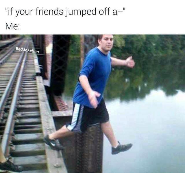 I'd jump too - meme