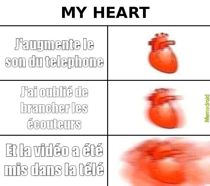 Ça bat le cœur - meme
