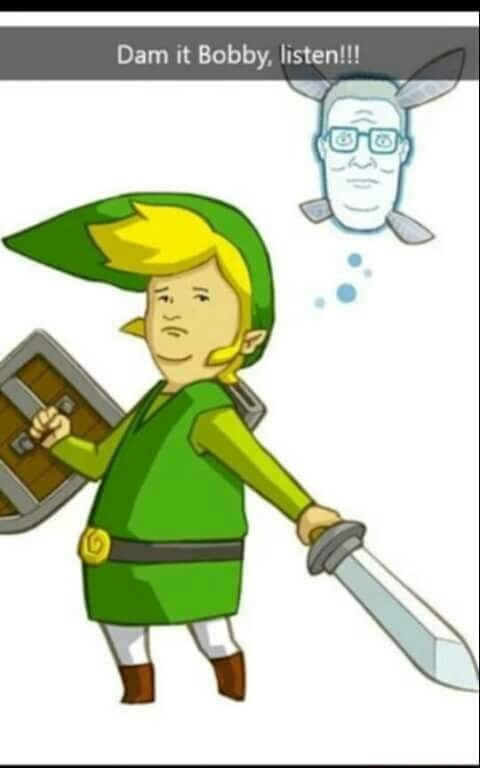 King of the Hill/Zelda Crossover - meme