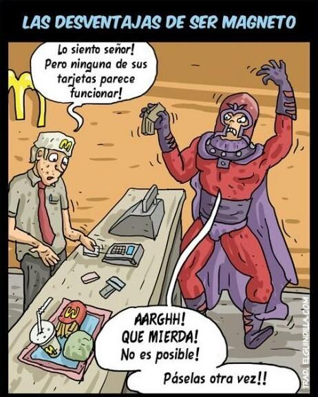 No todo es ventajas al ser Magneto - meme
