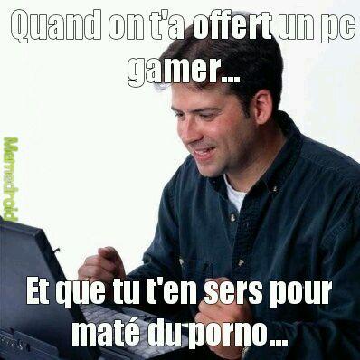Je veux un pc gamer - meme