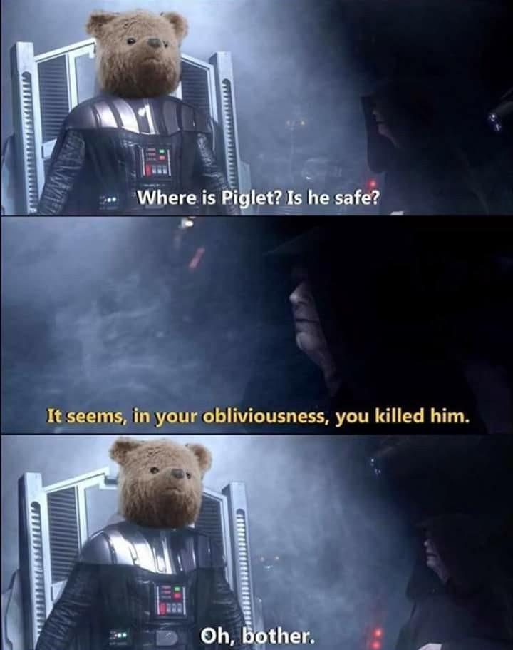 Darth Pooh - meme