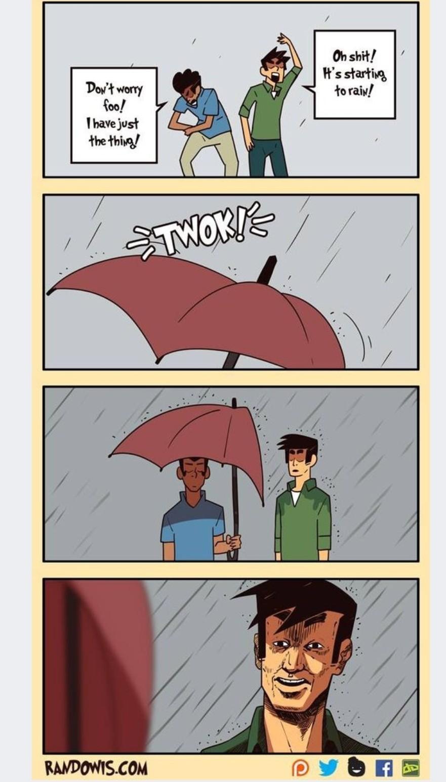 Rain go away thot - meme