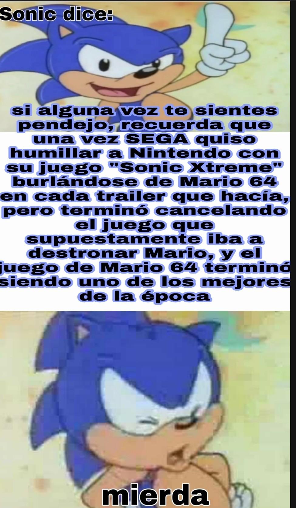 Sonic se hizo daño así mismo - meme