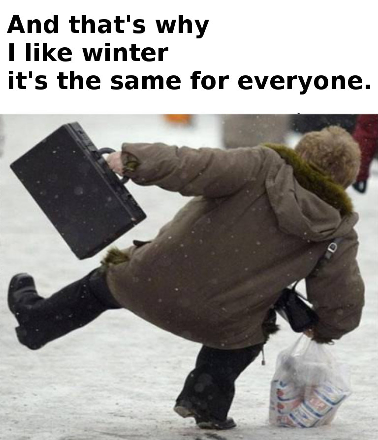 winter time - meme