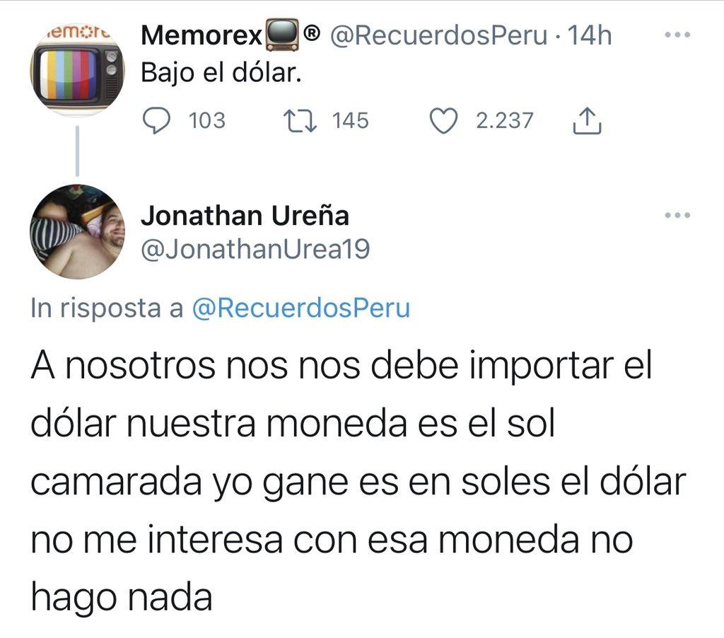 Bajo el dolar en Peru,, pero volvio a subir - meme