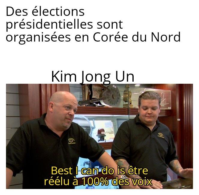 Kim Jong deux + son résultat sera toujours une meilleure note que mon meme