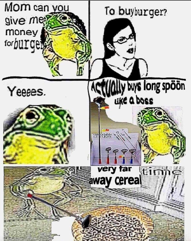 long spöön for cereal - meme