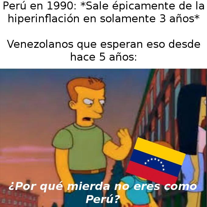 ¿Por qué Venezuela, un país con muchos recursos naturales y con todas las oportunidades para salir, no puede?:okay: - meme