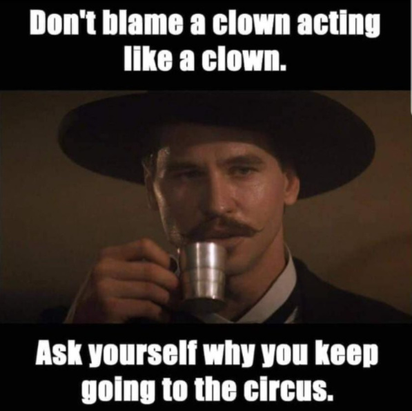 Some advice from Doc Holliday - meme