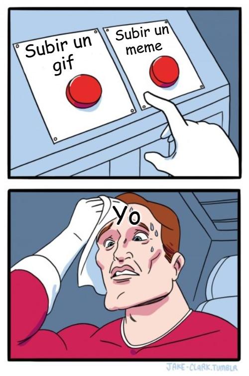Eso es muy dificil para mi decidir - meme