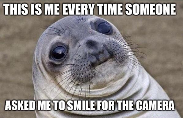 I can't smile - meme