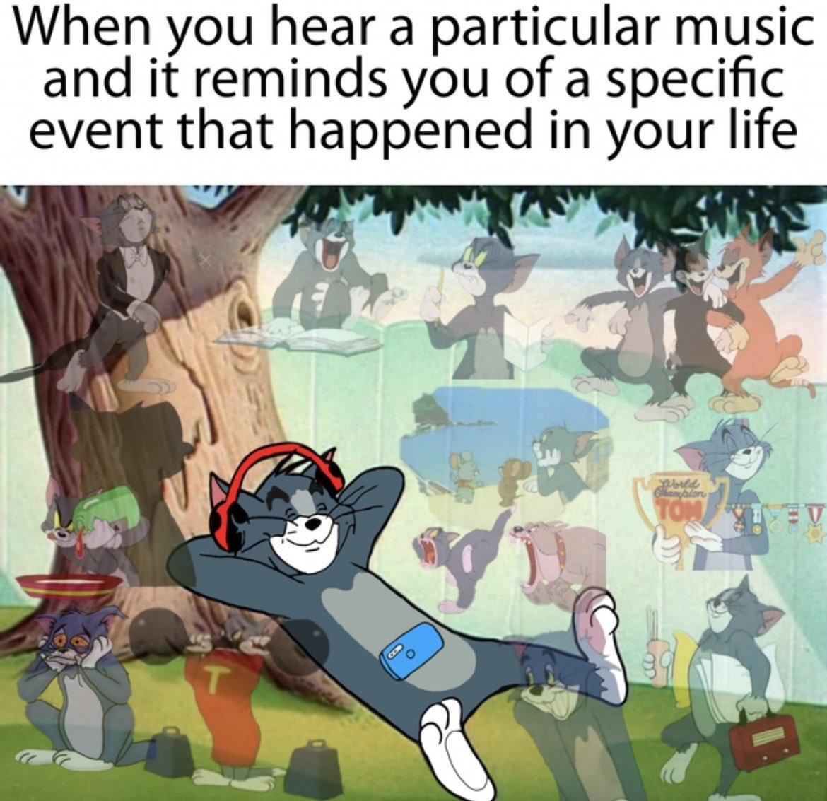 find a song youve heard before and feel the nostalgia - meme