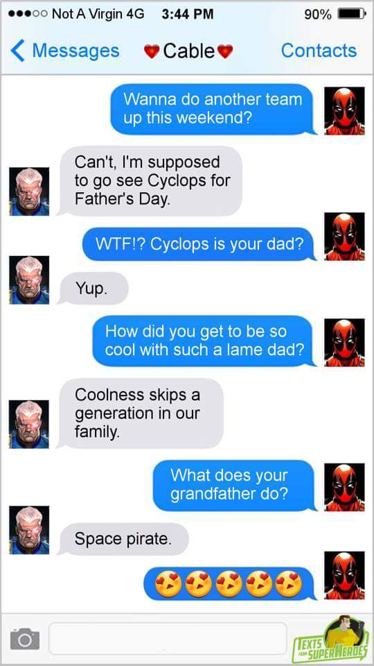 Cable/Deadpool - meme