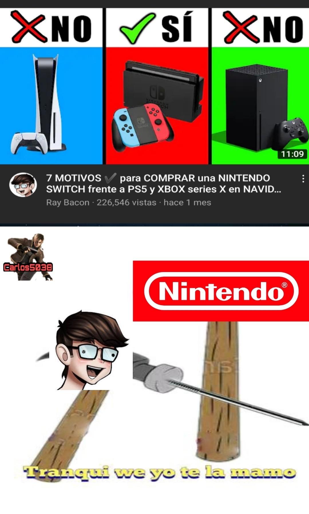 Se la dejó bien seka_xd a Nintendo - meme