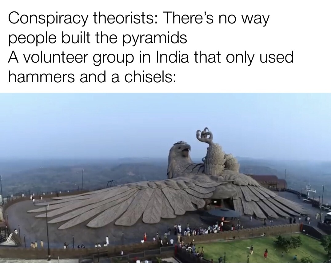 Worlds largest bird statue - meme