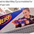 Miley Cyrus found modeling for Nerf