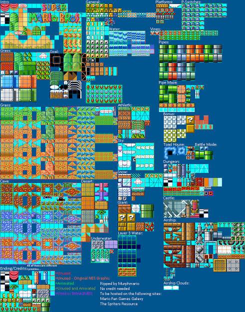 Tileset súper Mario bros 3 - meme