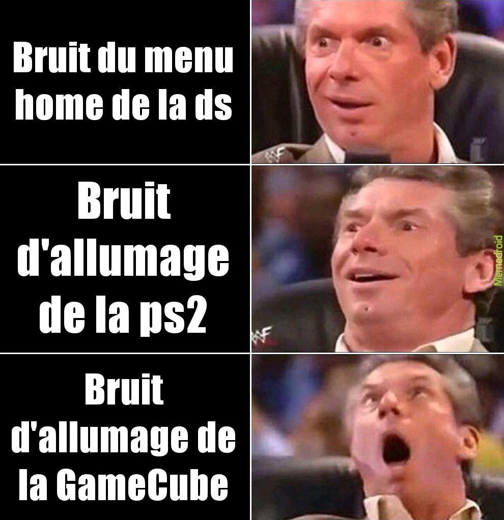 J'ai dis la GameCube - meme
