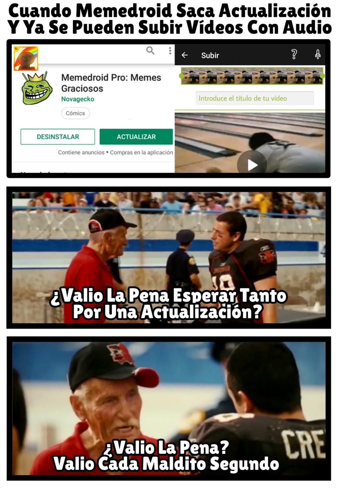Actualización - meme