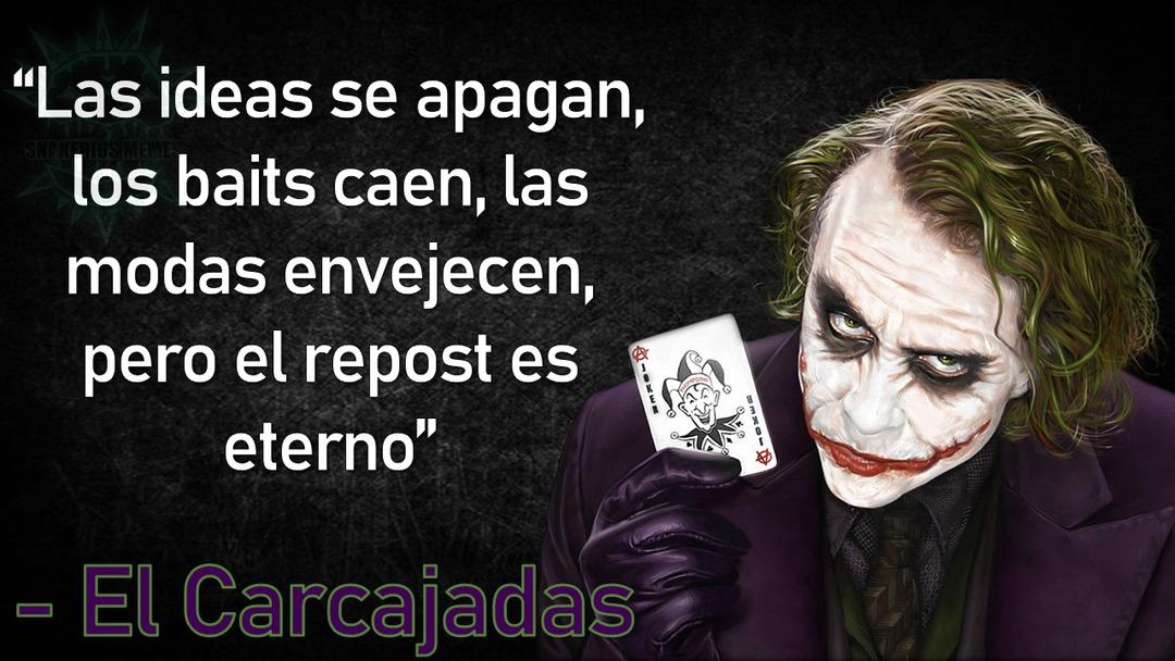 """You drink water, i drink anarchy"" - The Joker - meme"