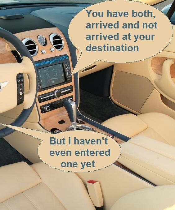 Schrodingers GPS - meme