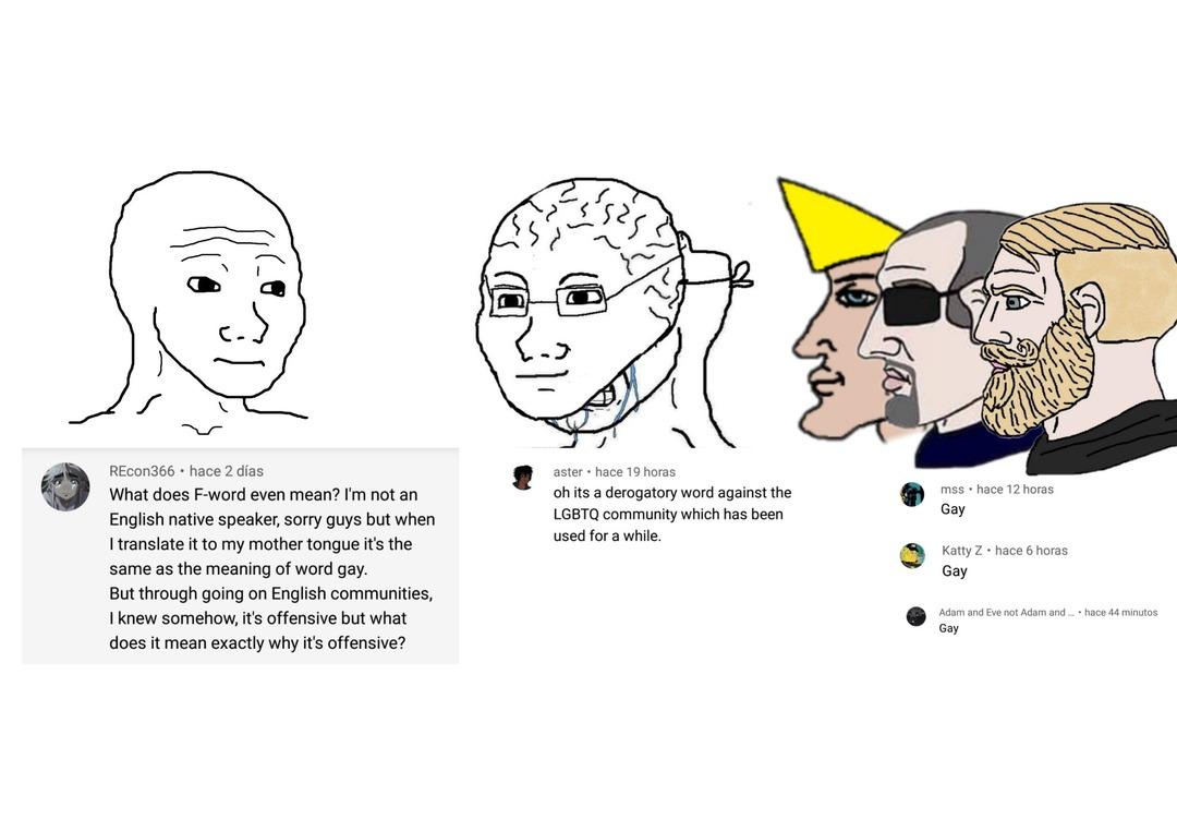 It means gay - meme