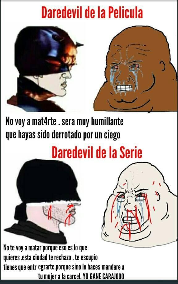 No importa el universo , Daredevil siempre humilla a Kingpim - meme