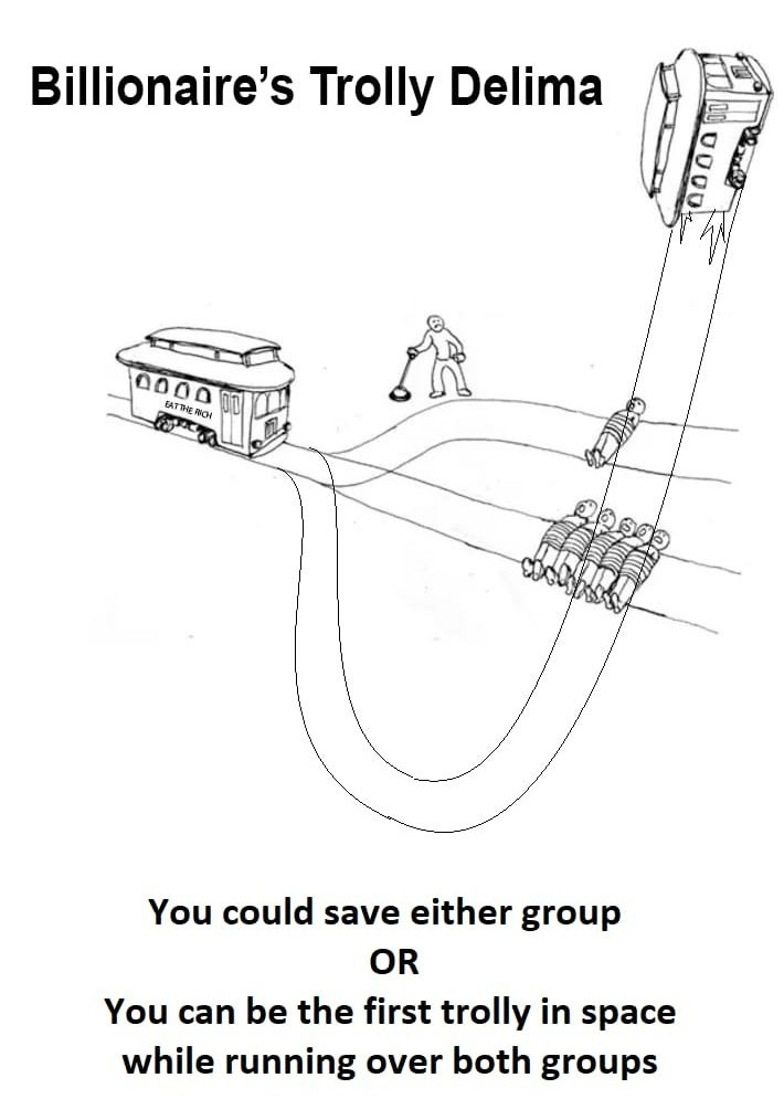 the trolley problem is back, baby. - meme