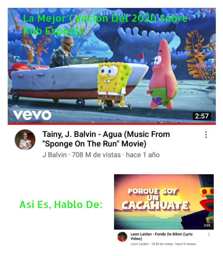 La Mejor Canción Sobre Bob Esponja - meme