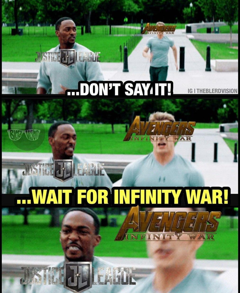 Infinity war>JL - meme