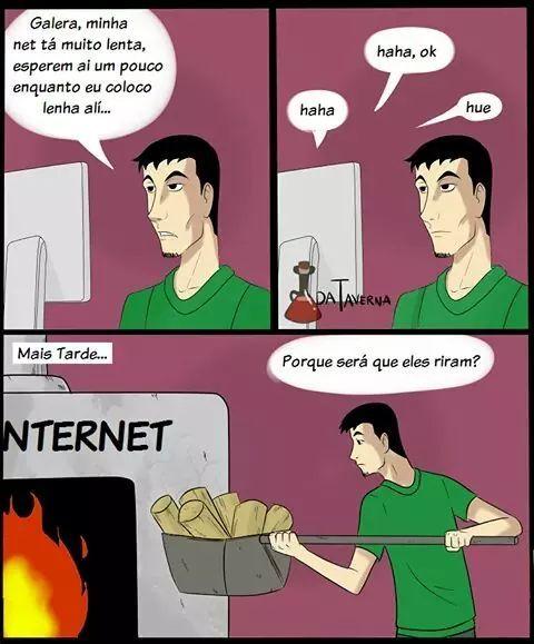 Internet da padaria - meme