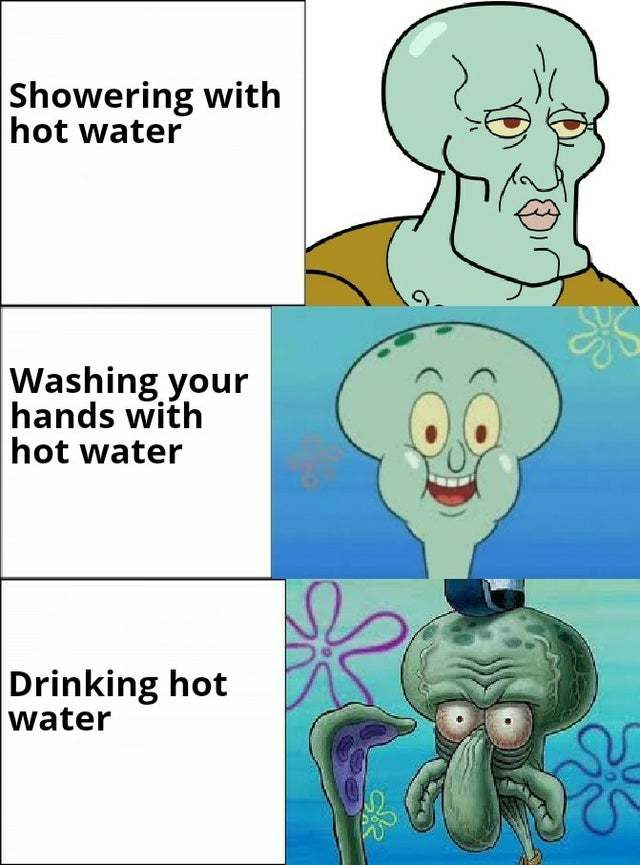 water is often disappointing - meme
