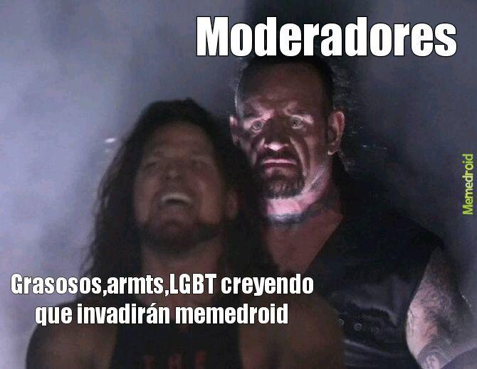 Confio en los moderadores - meme
