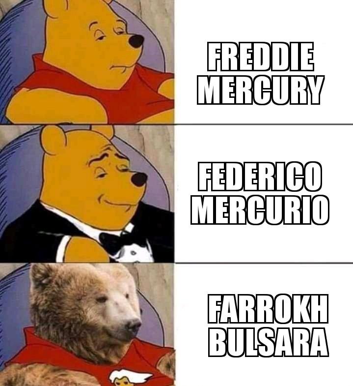 Freddie Mercury pasará a la historia como uno de los hombres más importantes de la historia - meme
