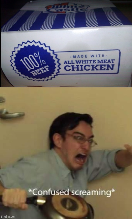 100% Beef Chicken - meme