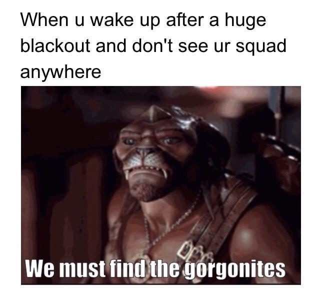 rip gorgonites - meme