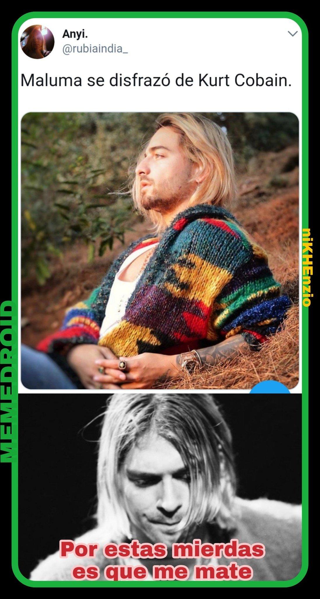 Esto es una ofensa para mi.jpg   kurt kobain - meme