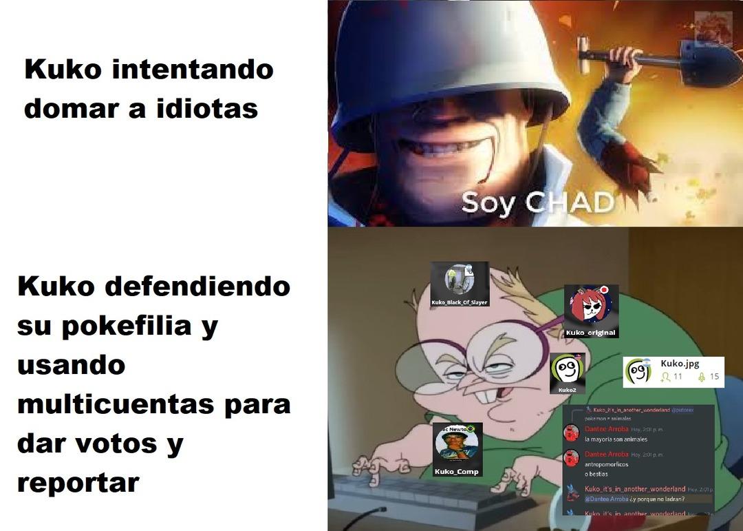 Kuko pedazo de wannabe zoofílico - meme