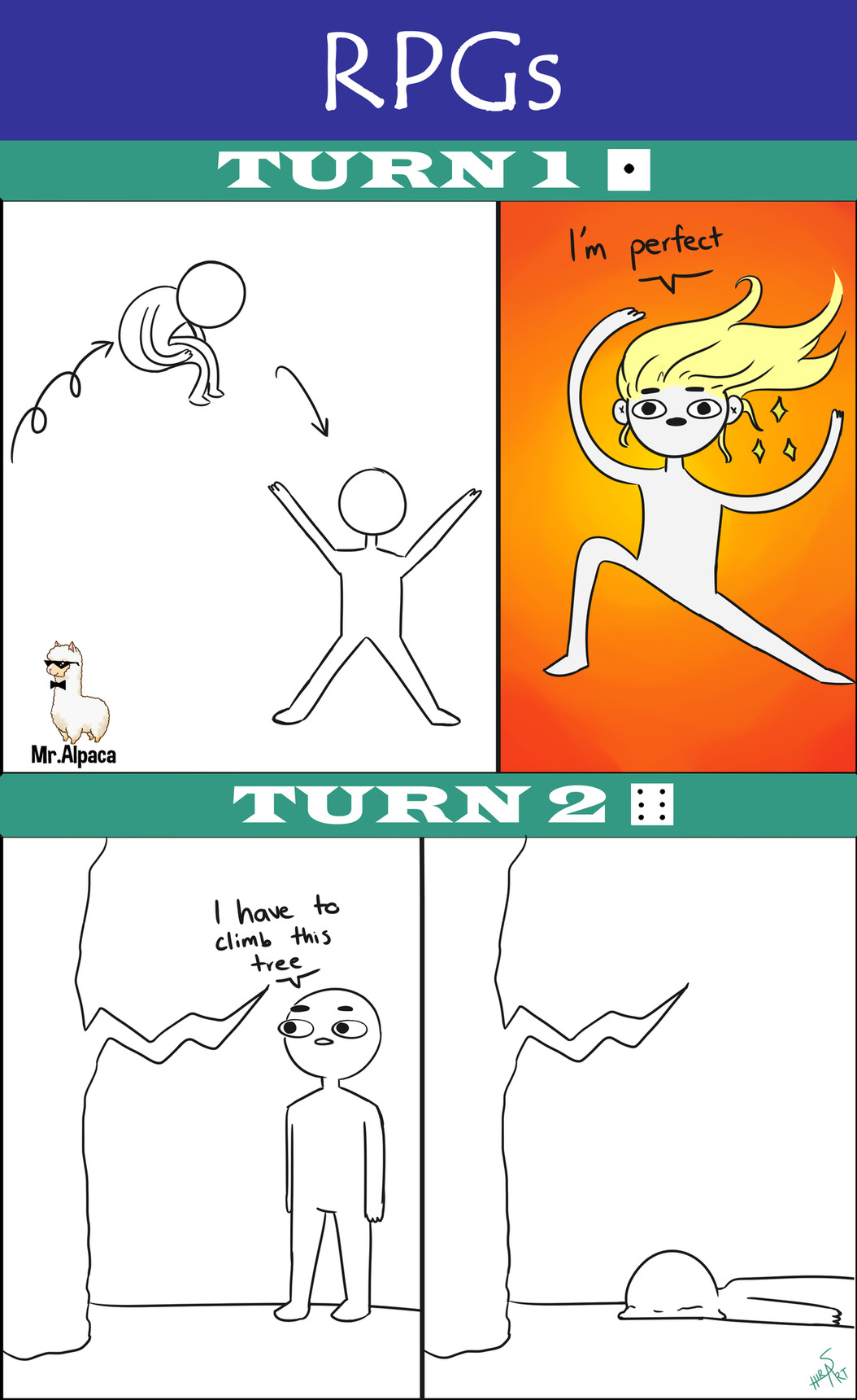 1=Perfect Turn // 6=Bad Turn - meme