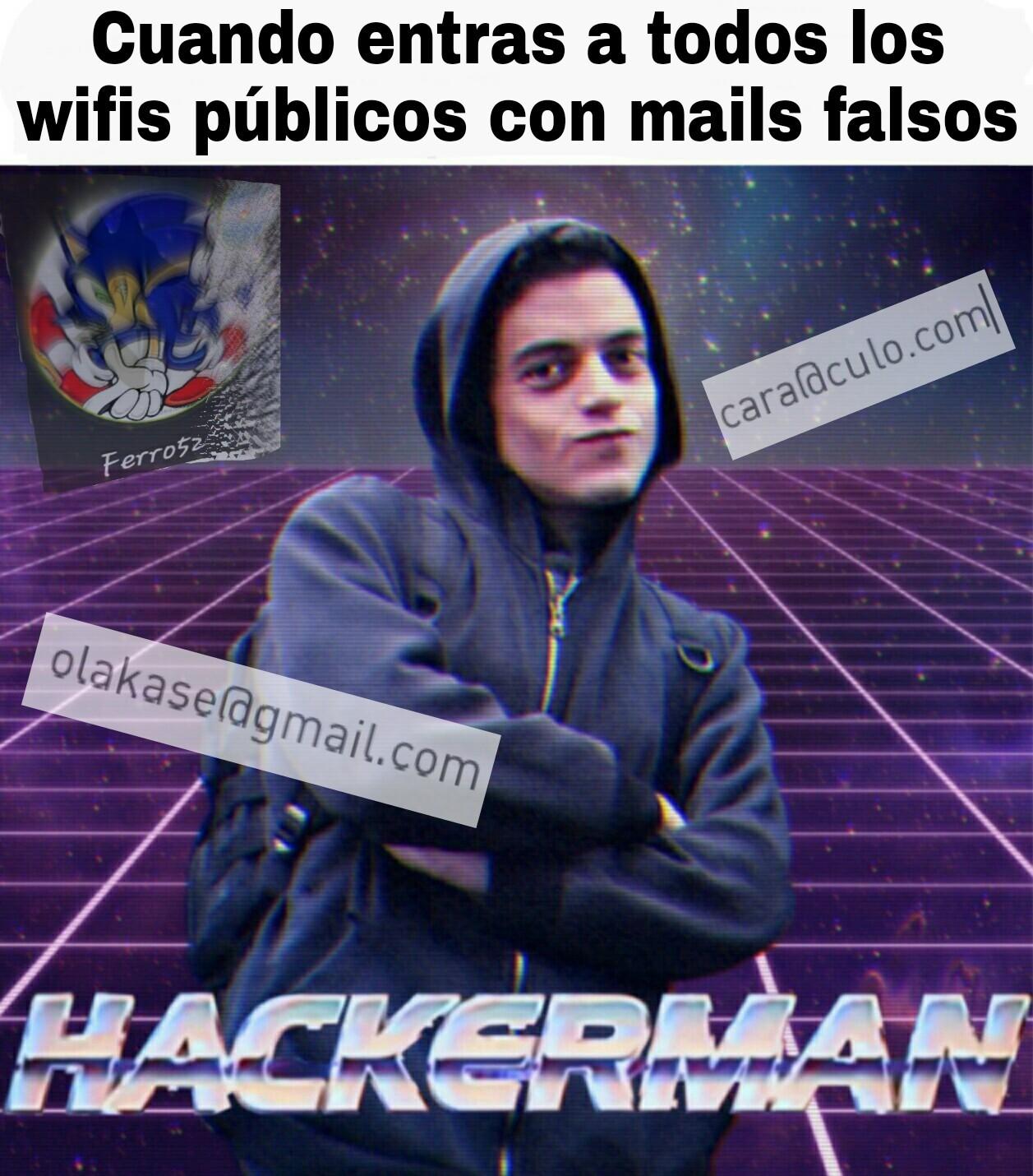 Siempre lo hago, para tener el wifi infinito gratis - meme